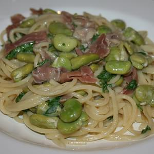Summer Pasta #2 – Broad Bean and Prosciutto Carbonara