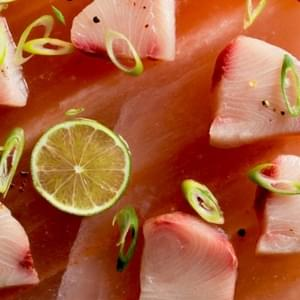 Fresh Fish! Salt and Pepper Semi-Cured Hamachi Sashimi