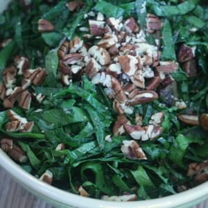 Lemony Kale and Roasted Mushroom Salad with Pecans