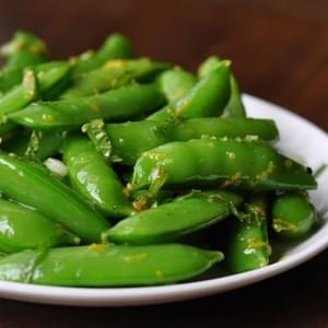 Snap Peas with Meyer Lemon and Mint