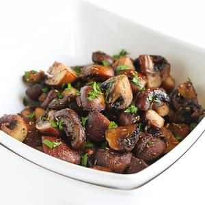 Easy Roasted Mushrooms with Rosemary & Garlic