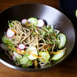 Cold Noodles with Miso, Lime and Ginger