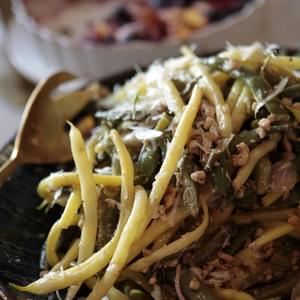 Green Bean, Toasted Walnut & Pecorino Romano Salad