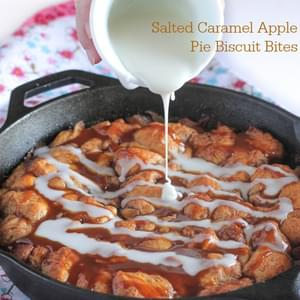Salted Caramel Apple Pie Biscuit Bites