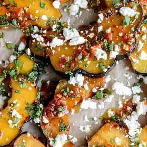 Spicy Roasted Squash with Feta and Herbs