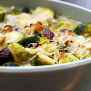 Brussels Sprouts and Chestnuts in Brown Butter Sauce