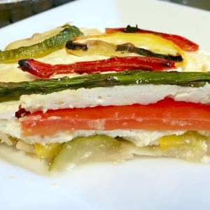 Grilled Summer Vegetable Pie With Lemon Ricotta