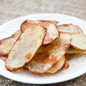 Oven-fried Potato Chips