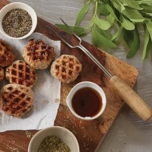 Sweet And Savory Waffled Sausage Patties