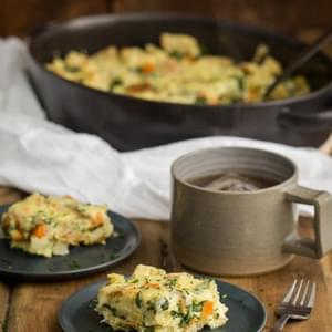 Sweet Potato & Spinach Breakfast Strata