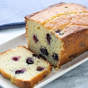 Lemon Blueberry Ricotta Pound Cake