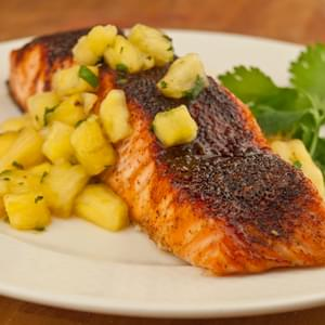 Southwestern Maple Glazed Salmon with Pineapple Salsa