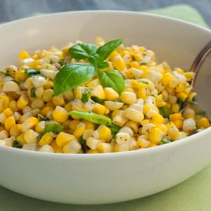 Fresh Corn Salad with Scallions and Basil