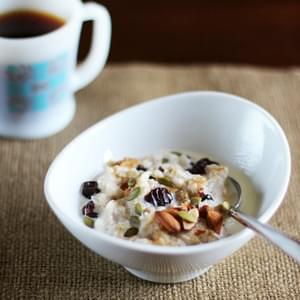 Frozen Single-Serve Oatmeal with Almonds & Dried Cherries