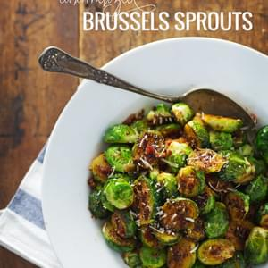 Simple Caramelized Brussels Sprouts