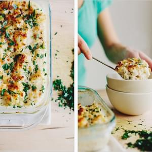 CAULIFLOWER + BROWN RICE GRATIN