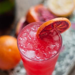 Blood Orange French 75 Cocktail
