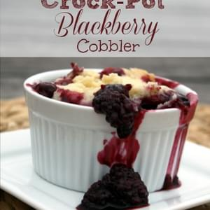 Crock-Pot Blackberry Cobbler