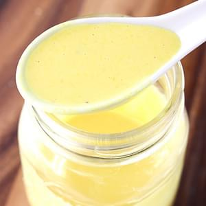 Creamy Honey Mustard Dressing {Lightened Up}