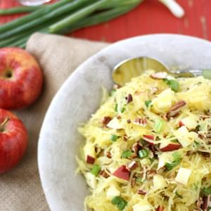 Spaghetti Squash with Apples & Toasted Pecans