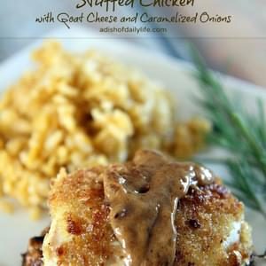 Stuffed Chicken with Goat Cheese and Caramelized Onions