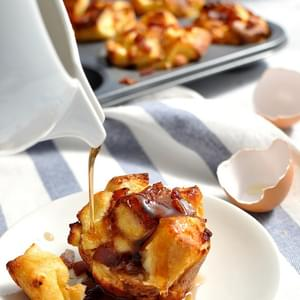 Pull Apart Bacon French Toast Muffins