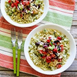 Slow Cooker Cauliflower Rice Greek Chicken Bowl (Low-Carb, Gluten-Free, Can Be Paleo)