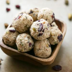 Cranberry Pistachio Cookie Dough Bites