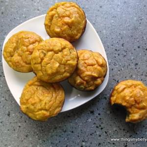 Avocado, Carrot & Honey Muffins