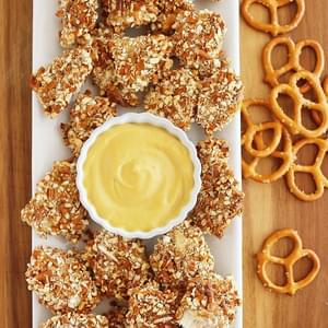 Honey Mustard Pretzel Chicken Bites