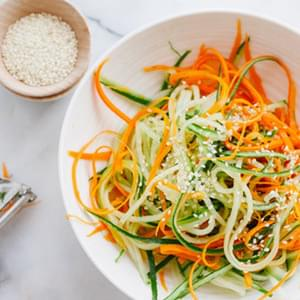 Asian Cucumber and Carrot Slaw