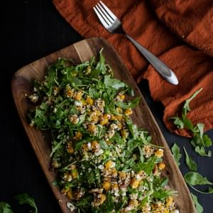 Roasted Butternut Squash, Quinoa, and Arugula