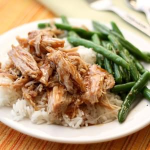 Slow Cooker Pork Roast with a Tangy Glaze Sauce
