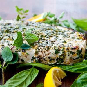 Grilled Fish with Citrus Herb Crust