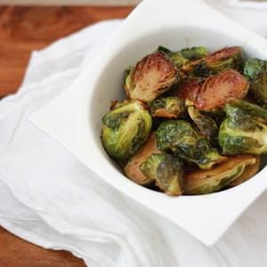 Roasted Maple Dijon Brussels Sprouts