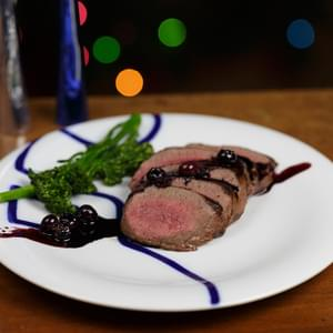 Venison with Port/Blueberry Sauce
