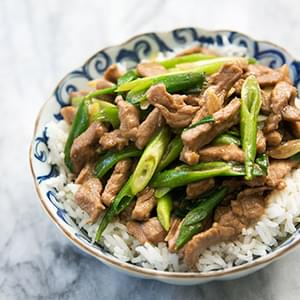 Pork Stir Fry with Green Onion
