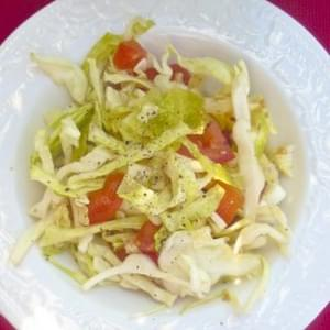 Lime and Garlic Cabbage Tomato Salad