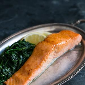 Honey Apple Cider Glazed Salmon
