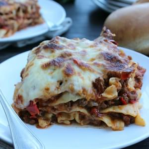 Slow Cooker Lasagna & Marie Callender's Chocolate Satin Pie