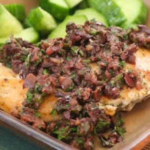 Sauteed Chicken Breasts with Olive-Caper Sauce