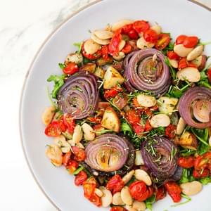 Roasted Vegetable, Bean and Herb Salad