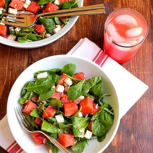 Watermelon, Feta and Arugula Salad