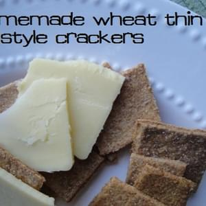 "Homemade ""Wheat Thins""-Style Crackers"