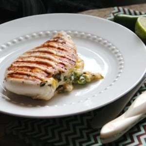 Cheddar Jalapeño Stuffed Grilled Chicken
