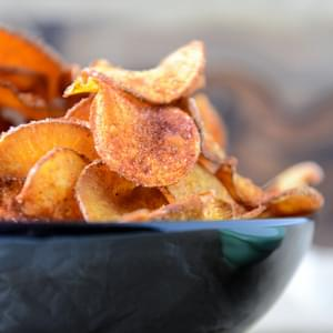 Homemade BBQ Sweet Potato Chips
