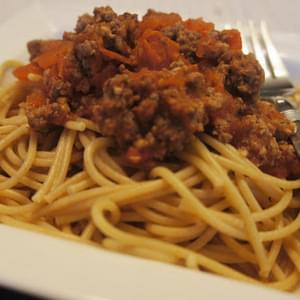 Slow Cooker Spaghetti Sauce with Fresh Tomatoes