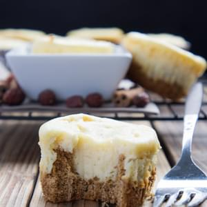 Eggnog Cheesecakes with Gingerbread Cookie Crust