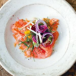 Salmon with Fennel Baked in Parchment Recipe