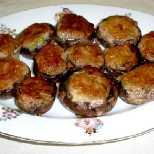 (Stuffed mushroom with shrimp)